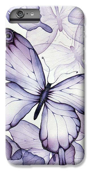 Purple Butterflies IPhone 6s Plus Case by Christina Meeusen