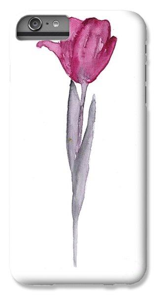 Purple Tulip Botanical Artwork Poster IPhone 6s Plus Case
