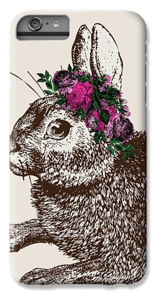 Floral iPhone 6s Plus Case - Rabbit And Roses by Eclectic at HeART