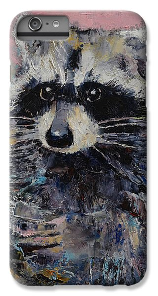 Raccoon IPhone 6s Plus Case by Michael Creese