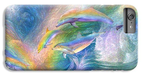 Rainbow Dolphins IPhone 6s Plus Case by Carol Cavalaris