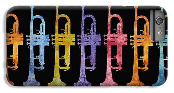 Trumpet iPhone 6s Plus Case - Rainbow Of Trumpets by Jenny Armitage