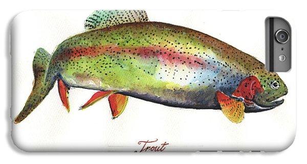 Trout iPhone 6s Plus Case - Rainbow Trout by Juan Bosco