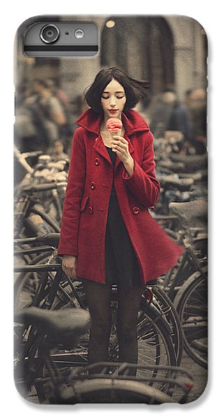 Bicycle iPhone 6s Plus Case - raspberry sorbet in Amsterdam by Anka Zhuravleva