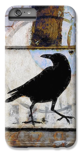 Blackbird iPhone 6s Plus Case - Raven Ahead Of Time by Carol Leigh
