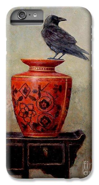 Blackbird iPhone 6s Plus Case - Raven On Red  by Lori  McNee