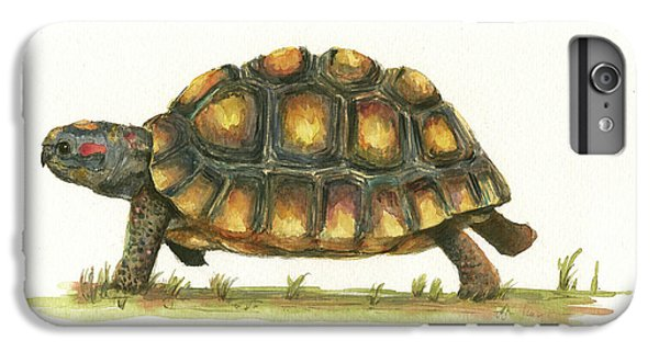 Red Footed Tortoise  IPhone 6s Plus Case by Juan Bosco
