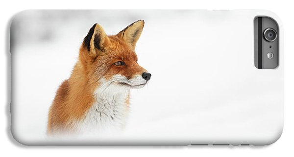 Fox iPhone 6s Plus Case - Red Fox Out Of The Blue by Roeselien Raimond