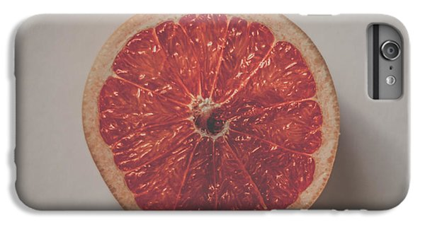 Grapefruit iPhone 6s Plus Case - Red Inside by Kate Morton