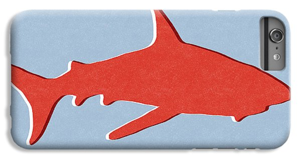 Nurse Shark iPhone 6s Plus Case - Red Shark by Linda Woods