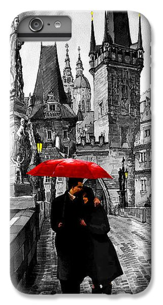 Umbrella iPhone 6s Plus Case - Red Umbrella by Yuriy Shevchuk