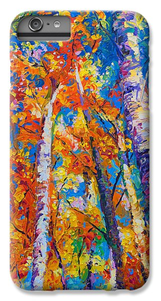 Impressionism iPhone 6s Plus Case - Redemption - Fall Birch And Aspen by Talya Johnson