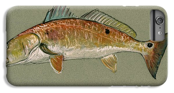 Redfish Watercolor Painting IPhone 6s Plus Case