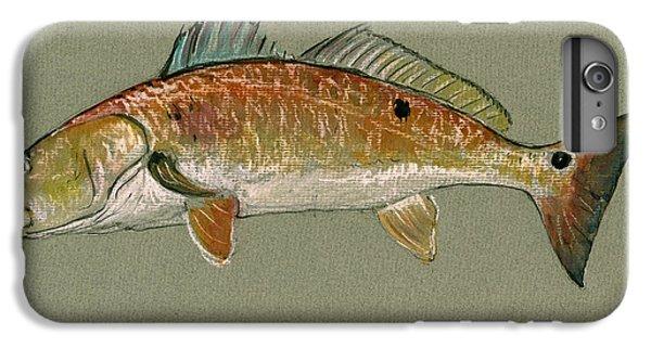Redfish Watercolor Painting IPhone 6s Plus Case by Juan  Bosco
