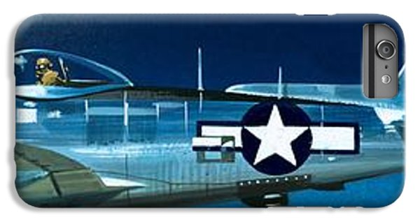 Airplane iPhone 6s Plus Case - Republic P-47n Thunderbolt by Wilf Hardy