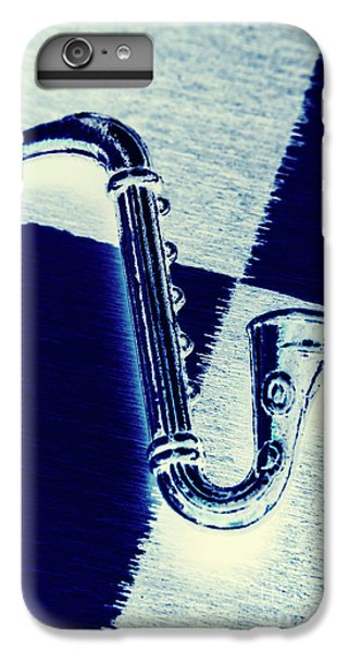 Trumpet iPhone 6s Plus Case - Retro Blues by Jorgo Photography - Wall Art Gallery