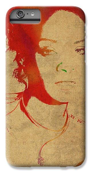 Rihanna Watercolor Portrait IPhone 6s Plus Case