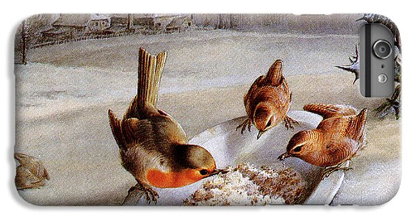 Wren iPhone 6s Plus Case - Robins And Wrens  Winter Breakfast by Harry Bright
