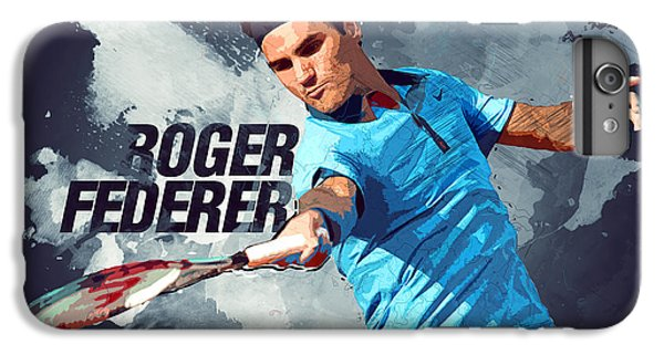 Serena Williams iPhone 6s Plus Case - Roger Federer by Semih Yurdabak