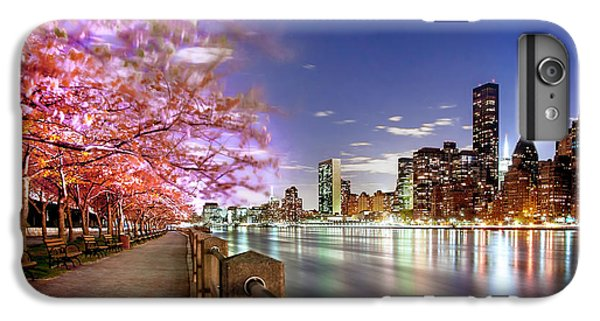 Empire State Building iPhone 6s Plus Case - Romantic Blooms by Az Jackson