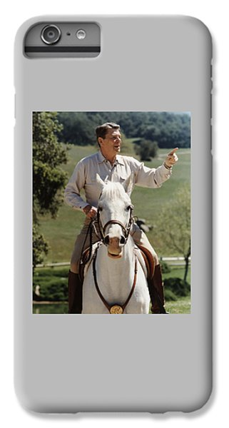 Politicians iPhone 6s Plus Case - Ronald Reagan On Horseback  by War Is Hell Store