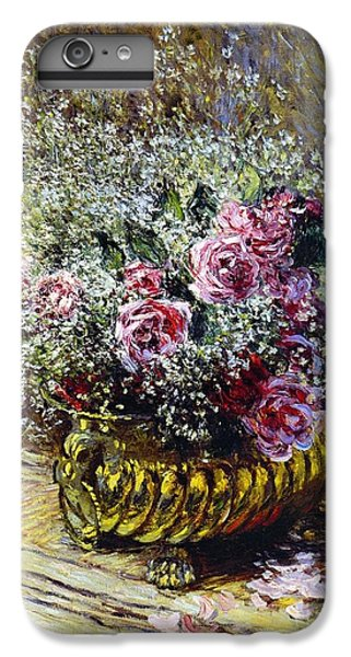 Roses In A Copper Vase IPhone 6s Plus Case by Claude Monet