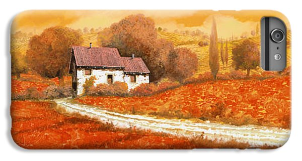 Sunflower iPhone 6s Plus Case - Rosso Papavero by Guido Borelli