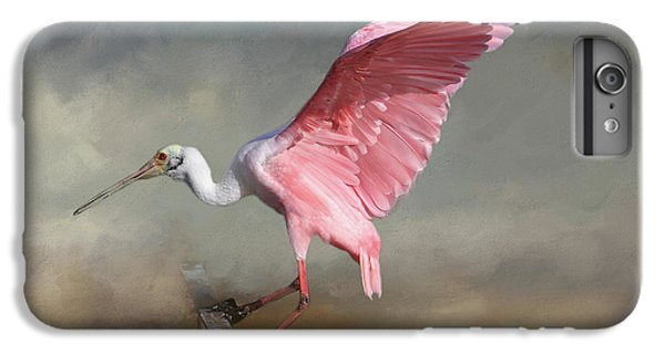 Ibis iPhone 6s Plus Case - Rosy by Donna Kennedy
