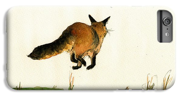 Running Fox Painting IPhone 6s Plus Case by Juan  Bosco