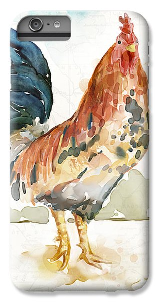 Rooster iPhone 6s Plus Case - Rust Rooster by Mauro DeVereaux