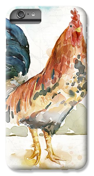 Rust Rooster IPhone 6s Plus Case by Mauro DeVereaux