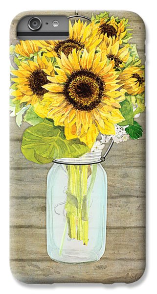 Rustic Country Sunflowers In Mason Jar IPhone 6s Plus Case