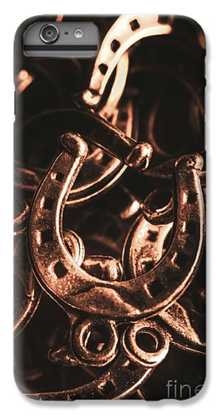 Pendant iPhone 6s Plus Case - Rustic Horse Shoes by Jorgo Photography - Wall Art Gallery
