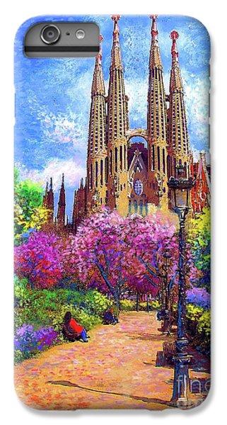 Barcelona iPhone 6s Plus Case - Sagrada Familia And Park Barcelona by Jane Small