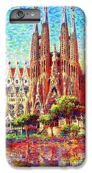 Barcelona iPhone 6s Plus Case - Sagrada Familia by Jane Small