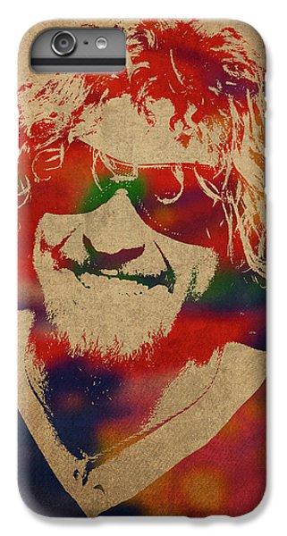 Van Halen iPhone 6s Plus Case - Sammy Hagar Van Halen Watercolor Portrait by Design Turnpike