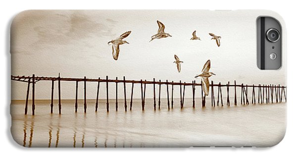 Sandpiper iPhone 6s Plus Case - Sandpipers In Sepia by Laura D Young