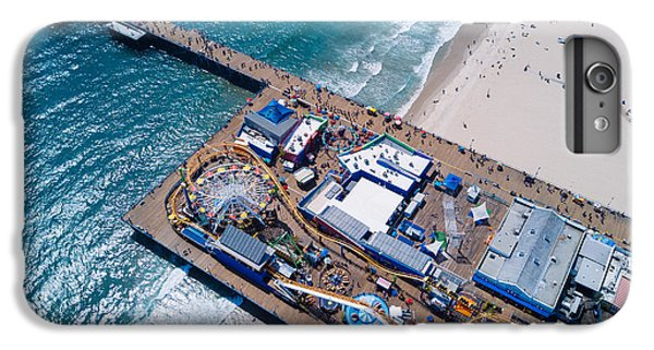 Santa Monica Pier From Above Side IPhone 6s Plus Case by Andrew Mason