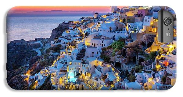 Greece iPhone 6s Plus Case - Santorini Sunset by Inge Johnsson