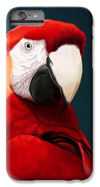 Parrot iPhone 6s Plus Case - Scarlet Macaw by KC Gillies