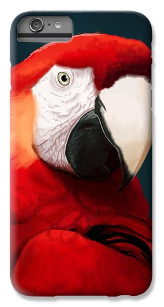 Scarlet iPhone 6s Plus Case - Scarlet Macaw by KC Gillies