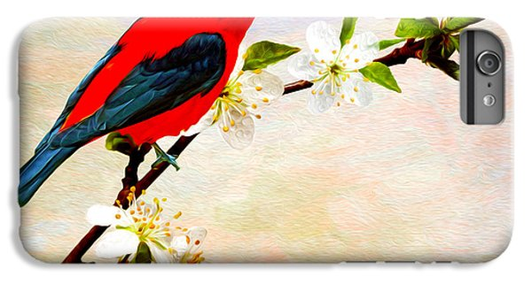 Scarlet iPhone 6s Plus Case - Scarlet Tanager by Laura D Young
