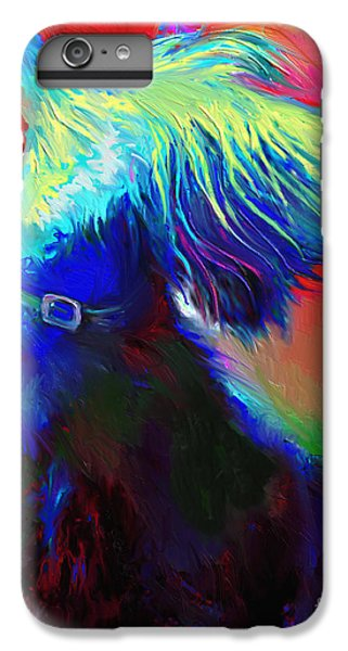 Scottish Terrier Dog Painting IPhone 6s Plus Case by Svetlana Novikova