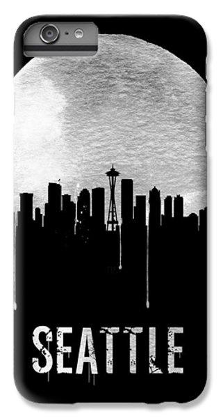 Seattle Skyline Black IPhone 6s Plus Case by Naxart Studio