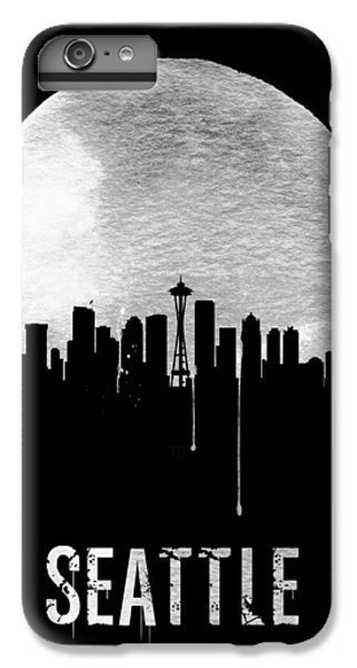 Seattle Skyline Black IPhone 6s Plus Case by Naxart Studio