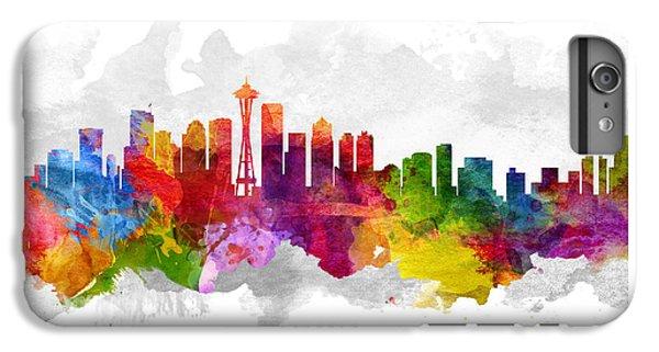 Seattle Washington Cityscape 13 IPhone 6s Plus Case by Aged Pixel