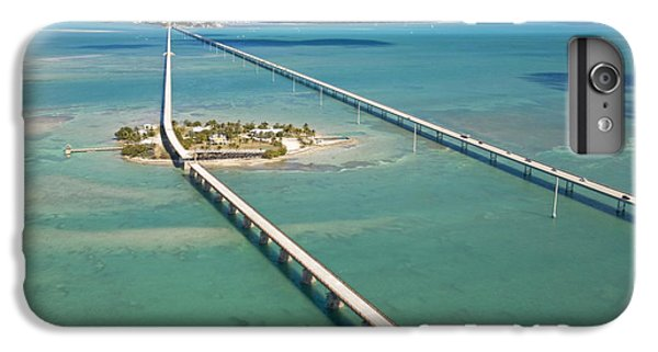 Pigeon iPhone 6s Plus Case - Seven Mile Bridge Crossing Pigeon Key by Mike Theiss