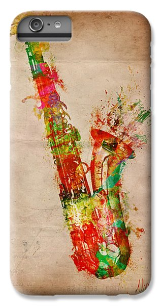 Saxophone iPhone 6s Plus Case - Sexy Saxaphone by Nikki Smith