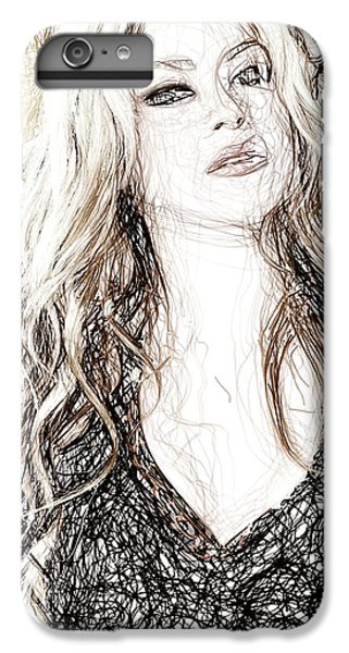 Shakira - Pencil Art IPhone 6s Plus Case by Raina Shah