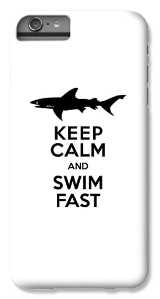 Sharks Keep Calm And Swim Fast IPhone 6s Plus Case by Antique Images
